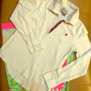 Lilly Pulitzer White Long-sleeve Polo shirt